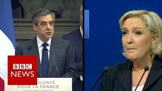 Le Pen plagiarises Fillon speech   BBC News