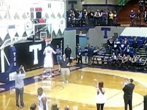 "Tarleton State University ""Lone Star Conference Champs"" Feb. 25, 2012 Cutting of Basketball Net"