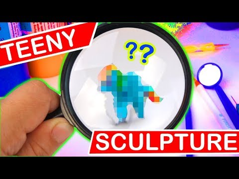 HOW SMALL CAN I SCULPT? CLAY SCULPTURE CHALLENGE Art craft DIY
