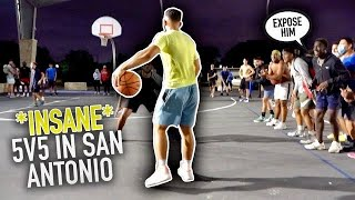 I SHUT DOWN THE PARK In San Antonio! | CRAZIEST Energy! (Mic'd up 5v5)