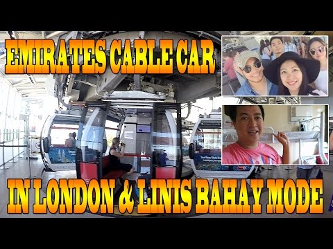 Emirates Cable Car in London at Linis Bahay na naman (22 Sept 2016 )