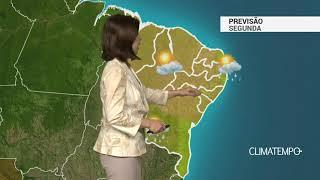 Previsão Nordeste – MA, PI e BA com pancadas de chuva