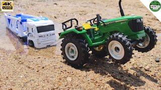 Truck stuck in river sands   John Deere Tractor   Bommu Kutty