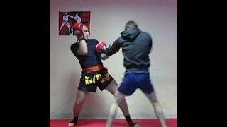 Тайский бокс Обучение - Боевая отработка прямых и боковых