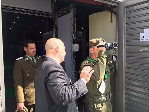 Frasier Optics Gyro-Stabilized Monolite and binoculars demo in Santiago Chile.