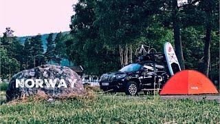 Из Швеции в Норвегию на машине с маленьким ребёнком. Ночёвка в палатке с ребёнком. Часть 5