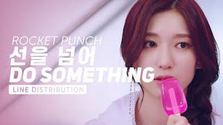 Rocket punch 로켓펀치 - 선을 넘어 (do something) | line distribution