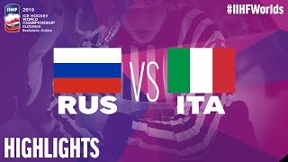 Russia vs. Italy - Game Highlights - #IIHFWorlds 2019