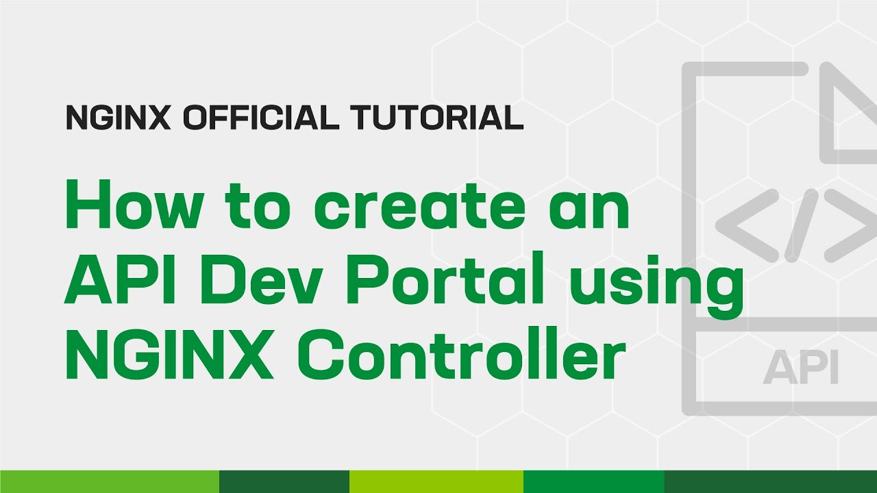 How to Create an API Dev Portal using NGINX Controller