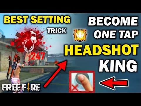 One Tap Headshot Best Secret Trick + Setting | 100% Headshot Trick | Become One Tap Headshot King