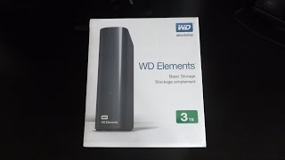 WD Elements 3TB External HDD! - Unboxing! (USB 3.0, 3TB)