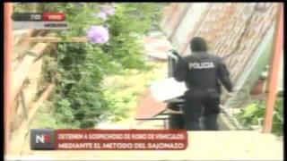 Detienen a sospechoso de asaltos por método del bajonazo