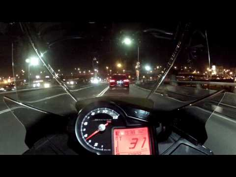 Aprilia Shiver GT - Night Ride - On Board . Taipei