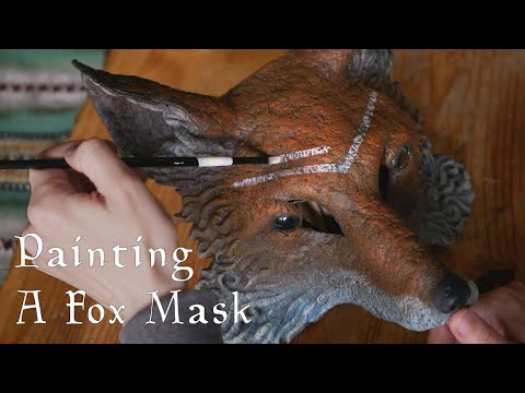 Painting A Fox Mask - Timelapse