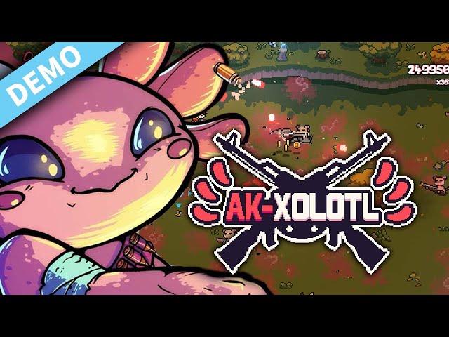New Adorable Indie top-down Arcade Shooter | AK-xolotl | PC DEMO