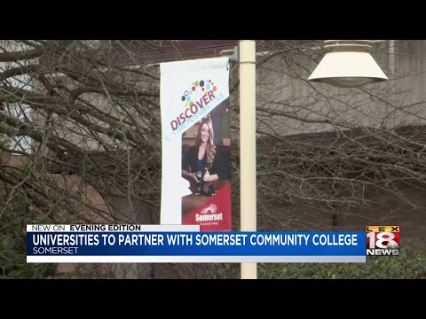 Universities To Partner With Somerset Community College