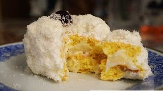 Χιονούλες (Fluffy sweet with cream and coconut engilsh subs)