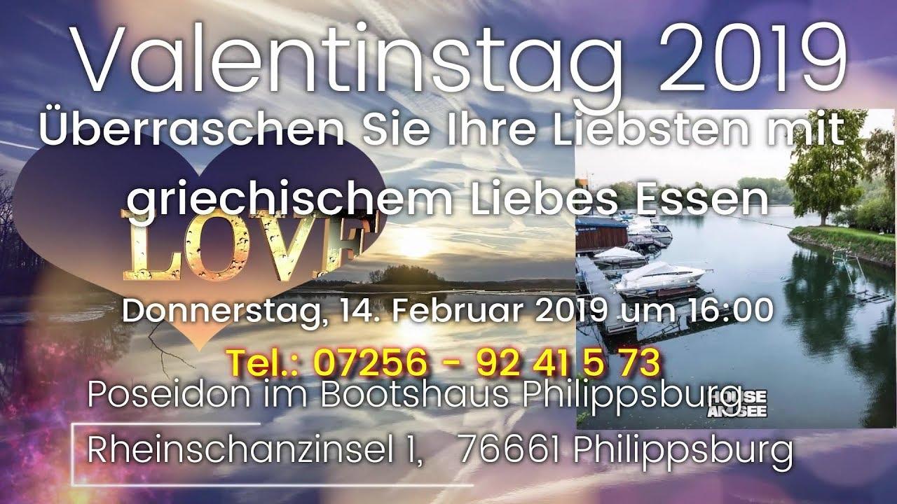 Valentinstag Restaurant Poseidon Im Bootshaus In Philippsburg Youtube