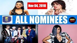 EMA's 2018 - ALL NOMINEES | MTV European Music Awards Nominations | November 04, 2018 | ChartExpress