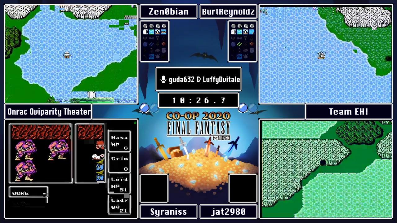 Final Fantasy Randomizer Co-Op Tournament 2020 - Brackets Round 2/Game 3: Team EH! vs Onrac Oviparit