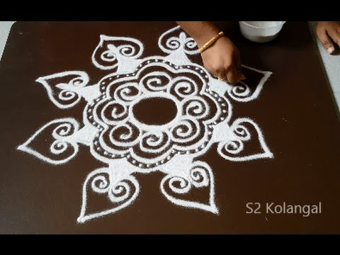 freehand rangoli designs for margazhi - easy feehand ...