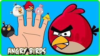 Finger Family Cartoons Angry Birds Song ABC Cartoon Nursery Rhymes for Kids Baby Songs