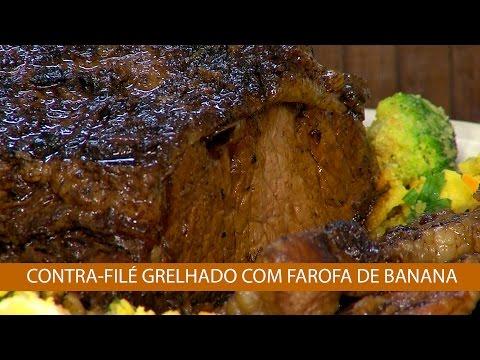 CONTRA-FILÉ GRELHADO COM FAROFA DE BANANA