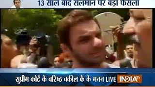 Salman Khan Hit-and-Run Case: Salman Khan & Sohail Khan Get Emotional after Verdict - India TV