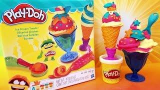 Play-doh Ice Cream Treats Make Scoops N Treats Cone And Sundae By Hasbro