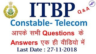 ITBP Constable Telecom FAQs | Qualification, Age, Exam Center and many more | Employments Point