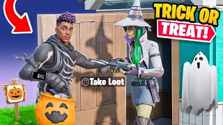 TRICK OR TREAT Game Mode in FORTNITE! (I Found A WITCH)