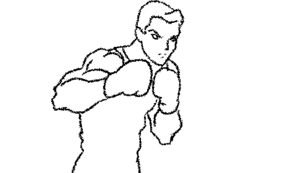 Praticando Muay Thai Em Desenho Animado Esbocos Youtube