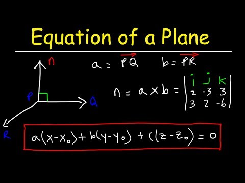 How To Find The Equation Of A Plane Given Three Points