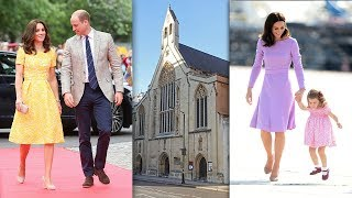 William and Kate will join Charlotte for the first part of day at nursery school tomorrow