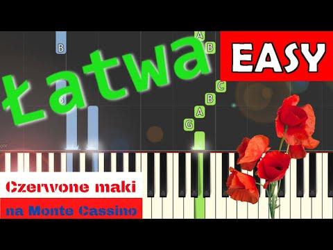 🎹 Czerwone Maki na Monte Cassino - Piano Tutorial (łatwa wersja) 🎹