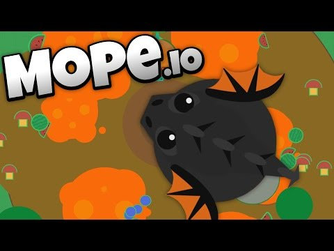 Mope.io - Lava Biome and Colossal Black Dragon Update! - Let's Play Mope.io Gameplay