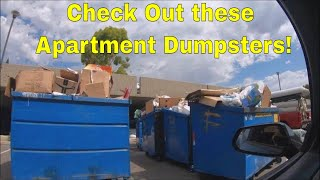 DUMPSTER DIVING at Apartment Complexes! Caught by Employee!