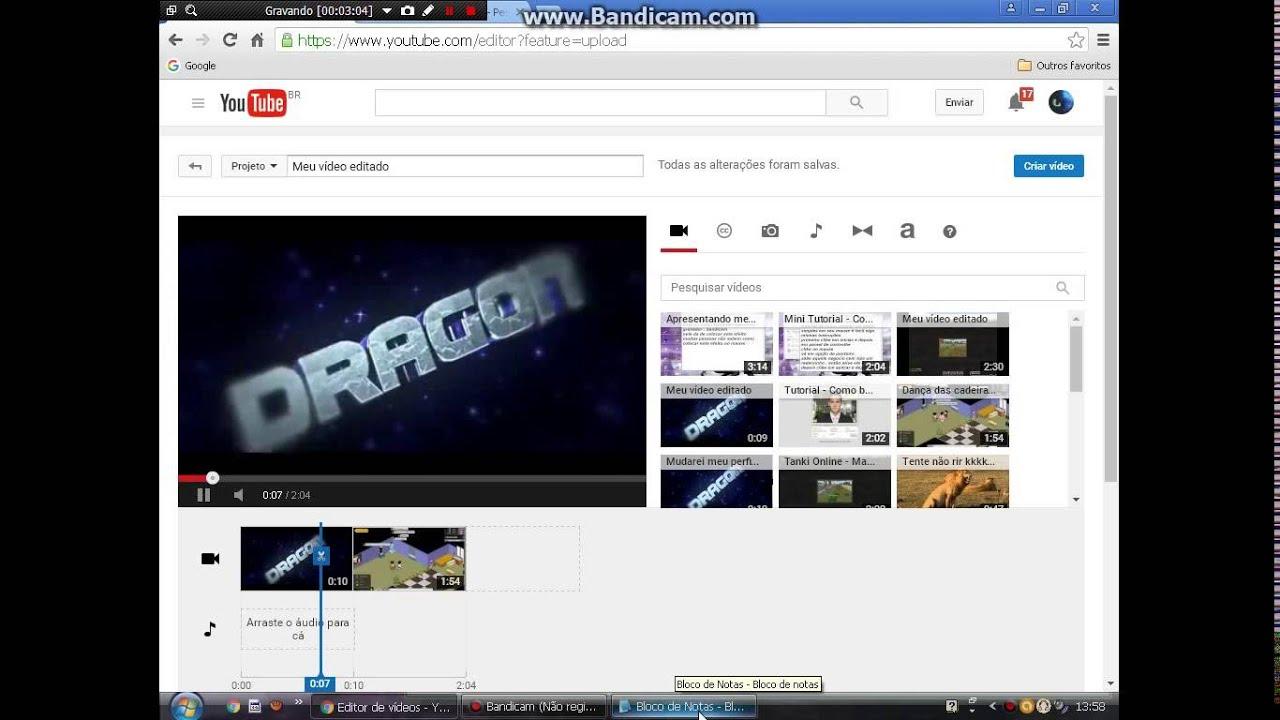 tutorial - como colocar sua intro no video pelo youtube
