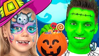 Vitalina and Halloween Trick or Treat Contest and Makeup