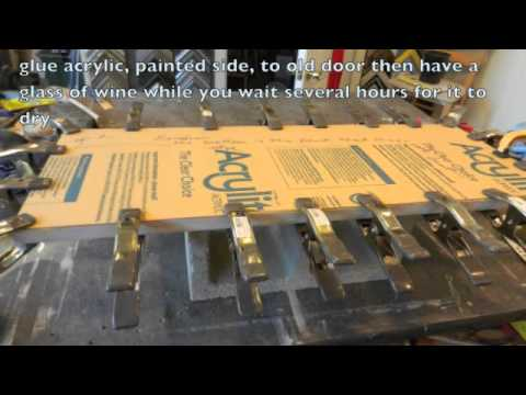 How to reface old cabinet doors with painted acrylic - YouTube