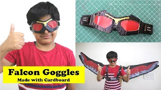 I made Avengers Falcon Goggles to match my Falcon Wings | Easy Super Hero Cardboard Craft DIY Ideas
