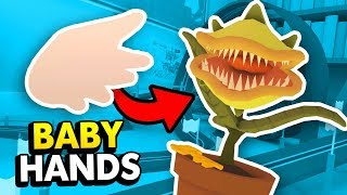 MONSTER PLANT vs BABY HAND IN VR (Baby Hands Funny HTC Vive Funny Gameplay)