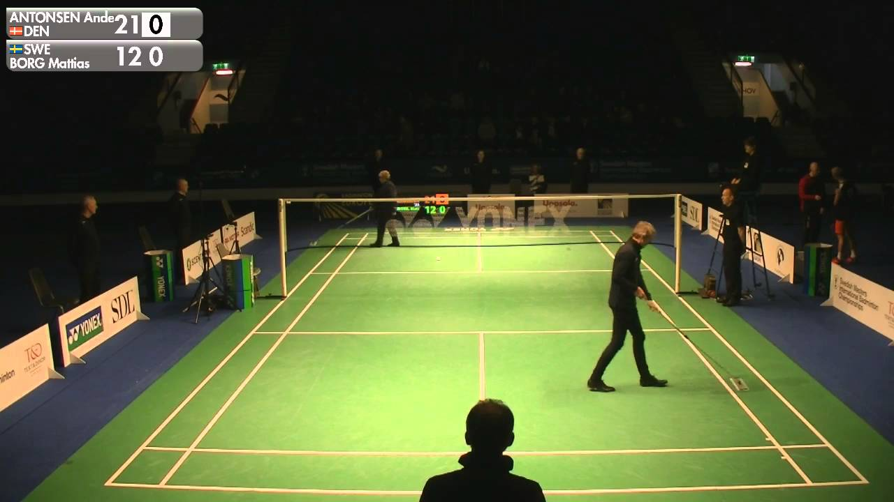 Badminton Anders Antonsen vs Mattias Borg MS Final Swedish