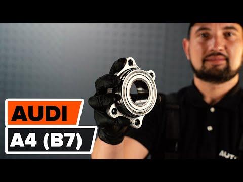 How to changefront wheel bearingonAUDI A4 (B7) [TUTORIAL AUTODOC]