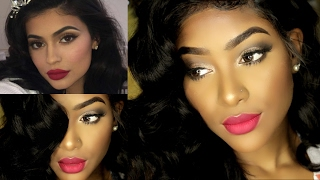 KYLIE JENNER Makeup x Hair Tutorial (Talk Through) | PETITE-SUE DIVINITII