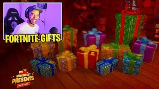 Hamlinz *OPENS* Fortnite Presents!! (FREE Skins, Glider, Emotes + MORE)