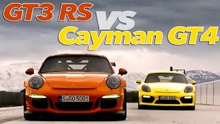 Porsche 911 GT3 RS vs Cayman GT4   Extreme GT