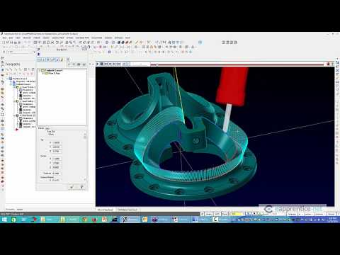 5 Axis swarf and Multi-axis flowline in Mastercam