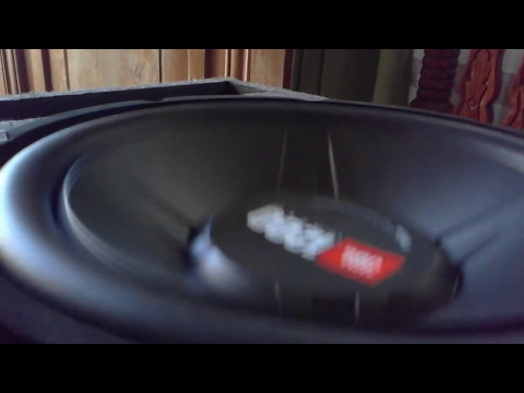 JBL GT5-S12 Subwoofer driven by a Mono Power Amp