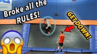 BREAKING ALL THE RULES AT SKYZONE!! *KICKED OUT*